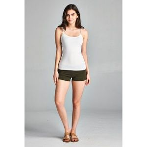 f982b21dc0 Shorts | Basic Army Green Fold Over Yoga | Poshmark